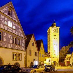 Rothenburg ob der Tauber abends